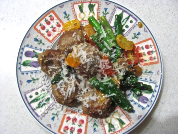 Meatballs & veggies