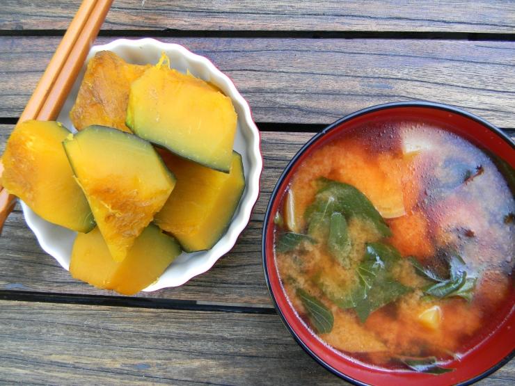 Beet Miso Soup & Kabocha Nimono
